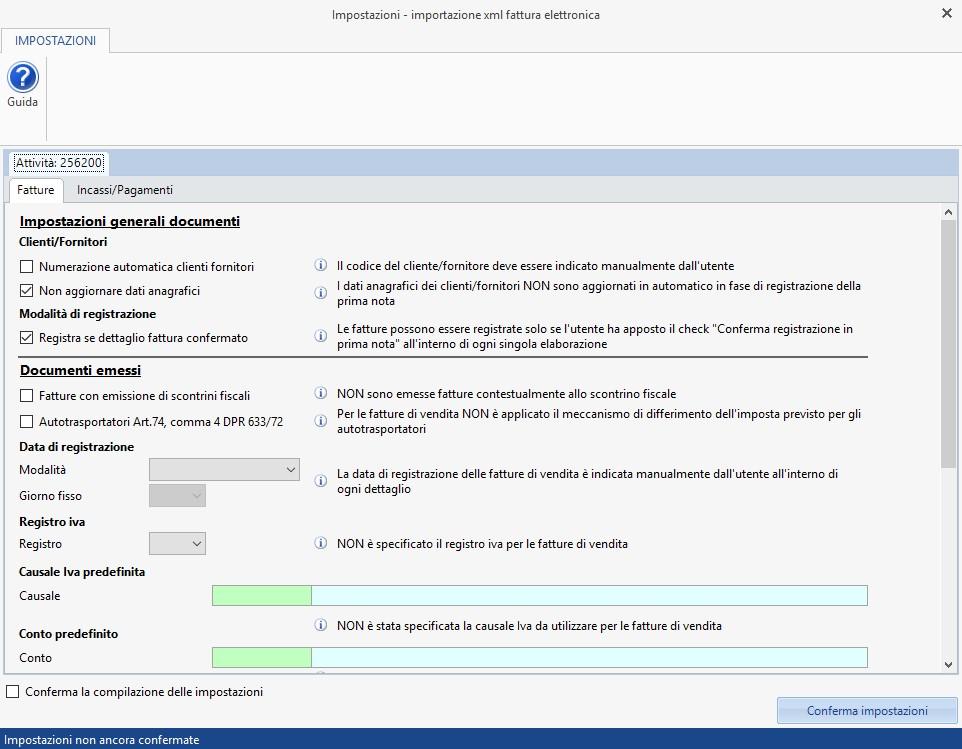 Caso pratico: Registrazione fatture elettroniche prodotte con altri software - 2
