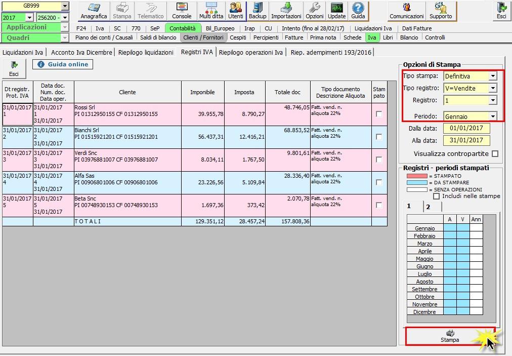 Registri IVA: stampa con Liquidazione - 2