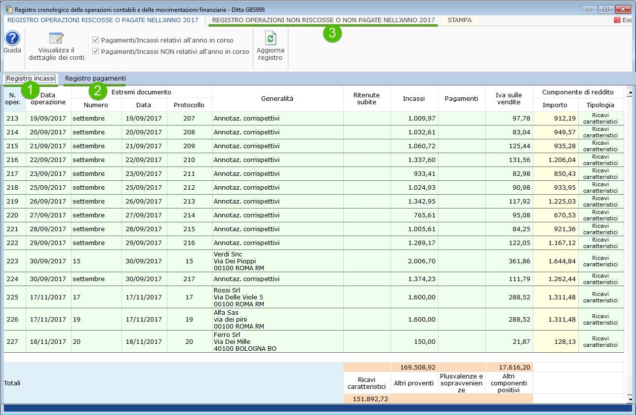 Registro degli incassi e dei pagamenti