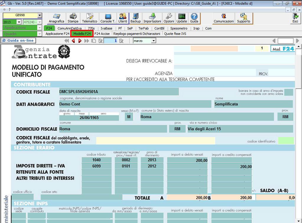manuale di lavoro pagamento f24 online obbligatorio con