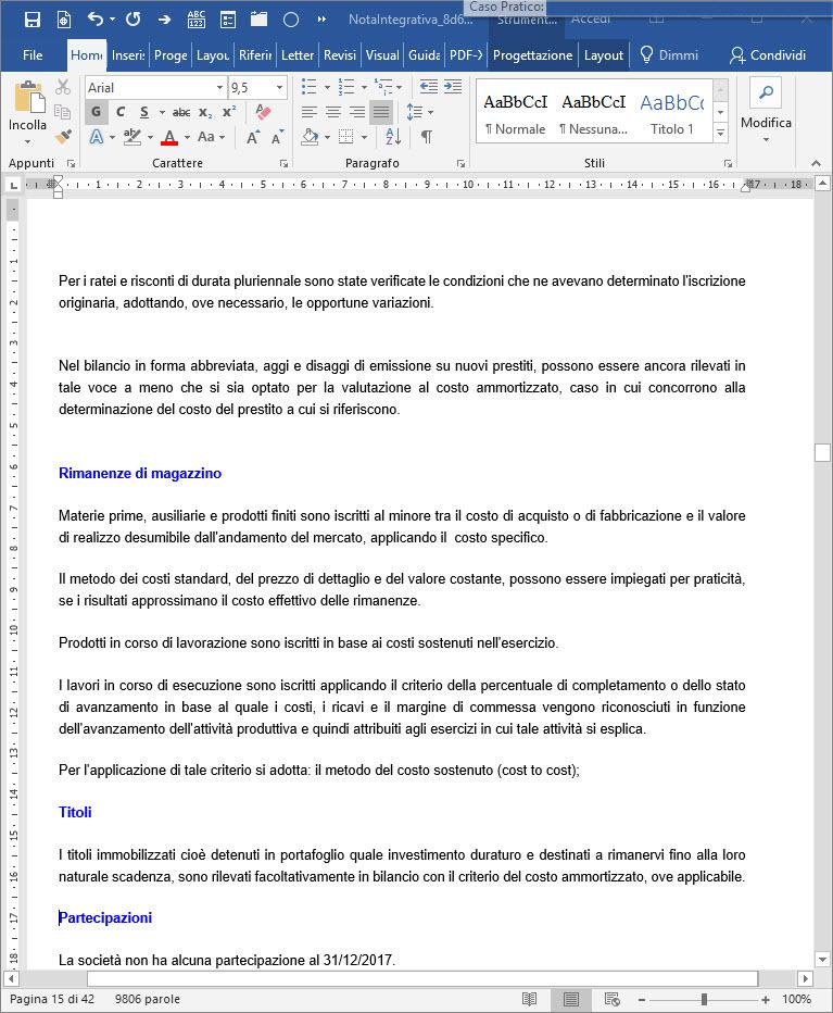 Caso Pratico: Aggiungere grafici ed immagini al bilancio da inviare ai clienti - 3
