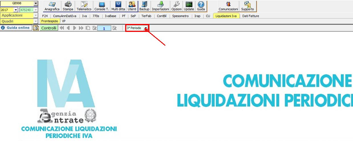 Liquidazione Periodica IVA 3° Periodo