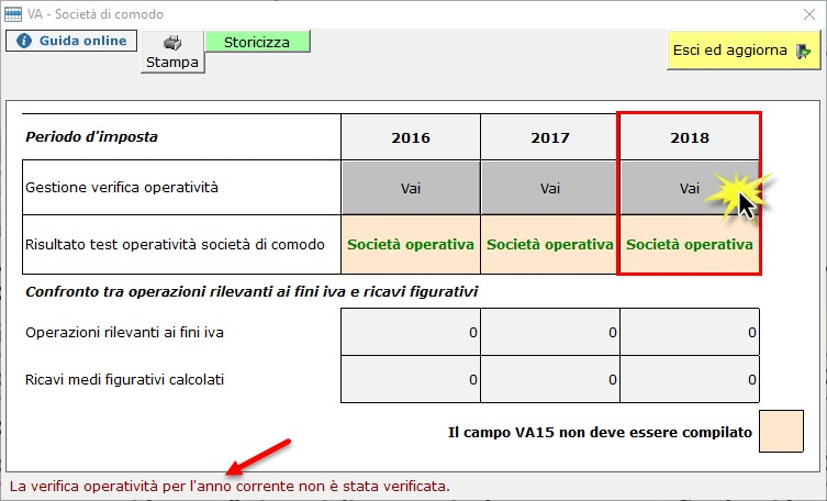 Dichiarazione IVA 2019: Società di comodo e Verifica Operatività - 3