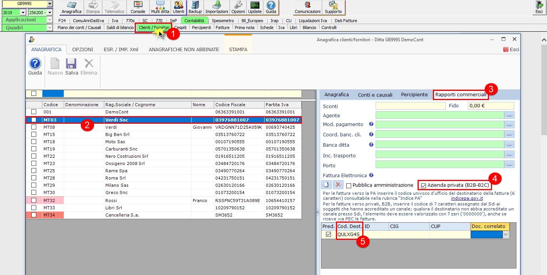 Fatturazione Elettronica: impostazione anagrafica del cliente - 3