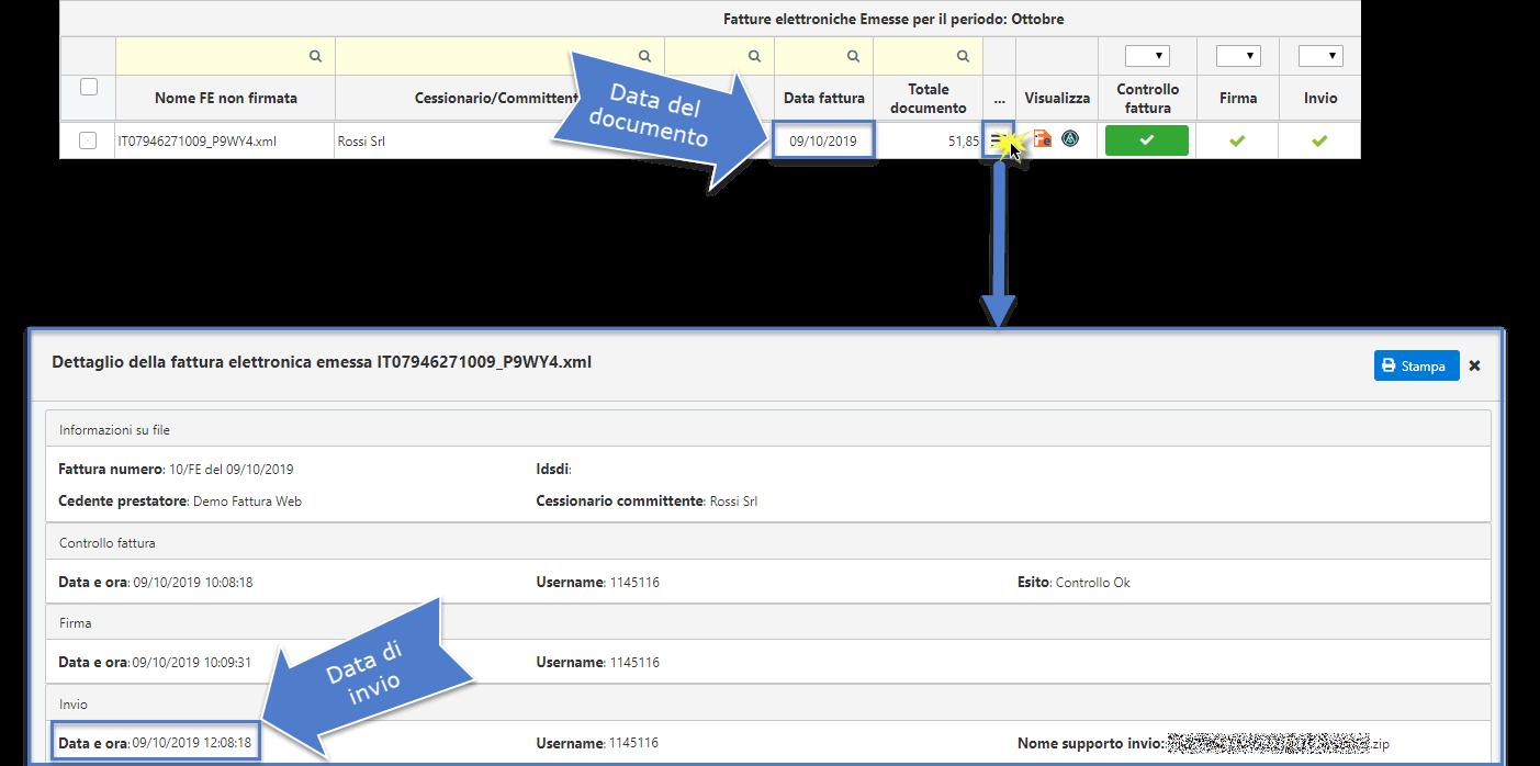 Fatturazione Elettronica: data della fattura e termini d'invio - 3