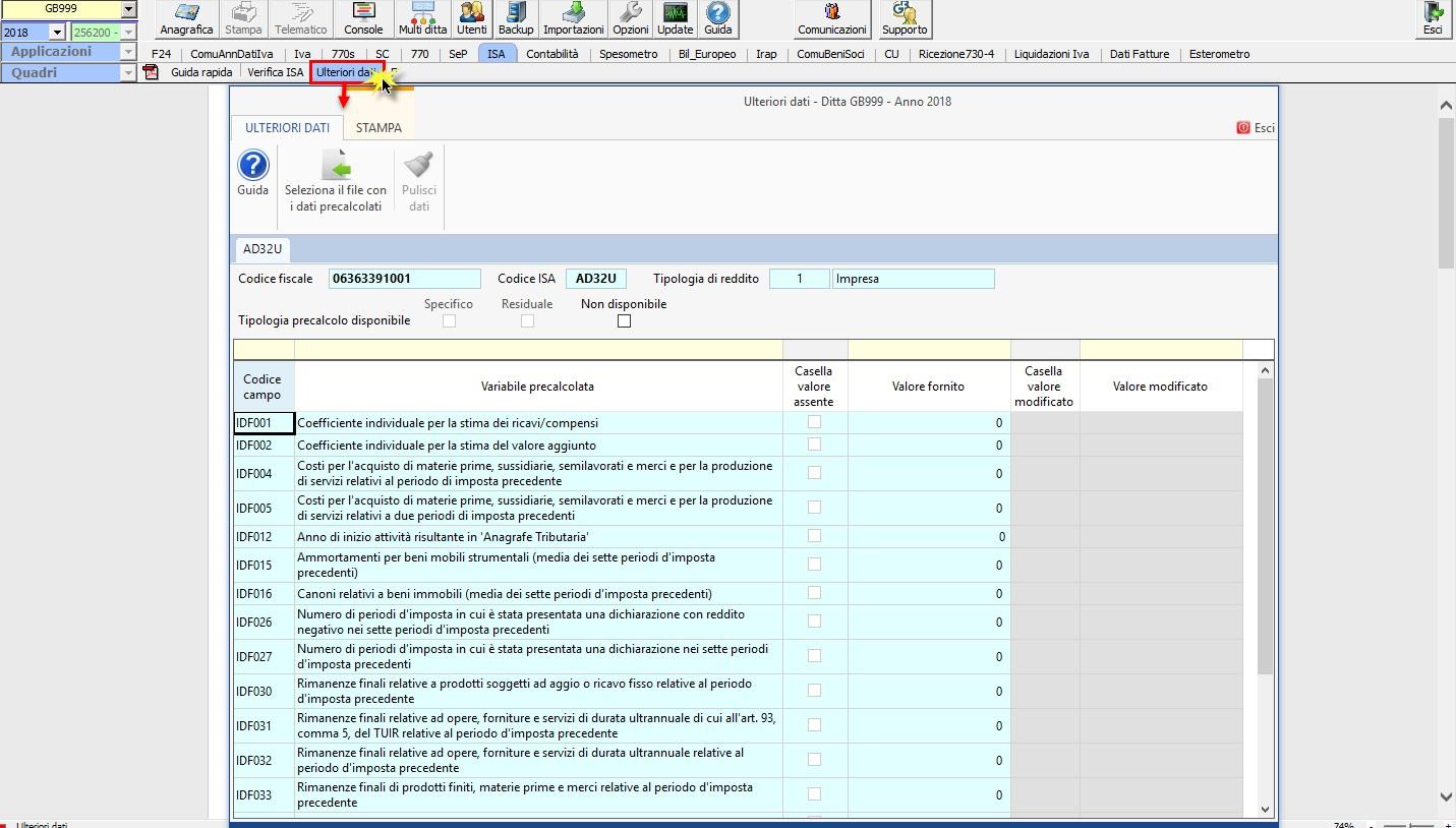 ISA 2019: gestione dei dati precalcolati - 3