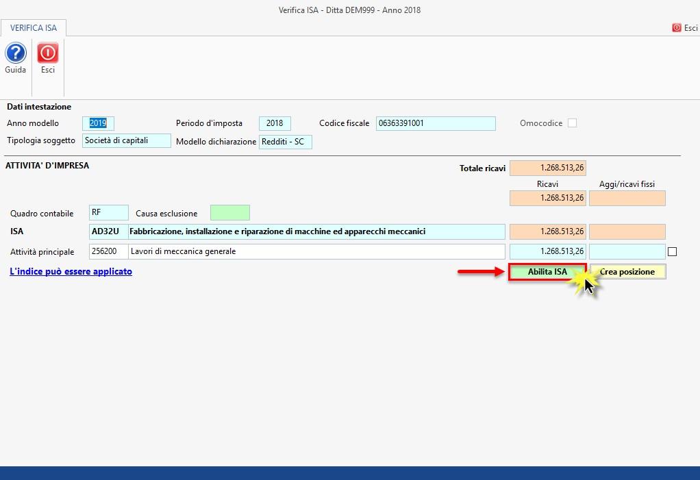 ISA - Indici sintetici di affidabilità fiscale 2019: rilascio applicazione - 3