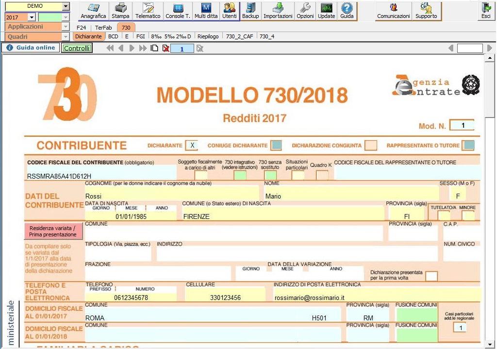 Modello 730 2018: rilascio applicazione e principali novità - 3