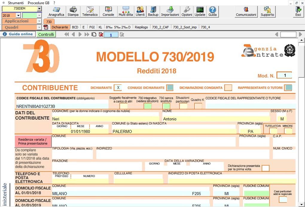 Modello 730 2019: rilascio applicazione e principali novità - 3