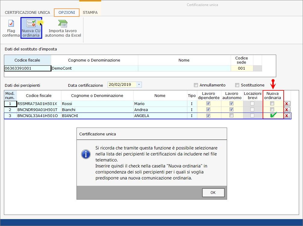 Caso pratico: nuovo file telematico con CU non trasmessa nel primo invio - 3
