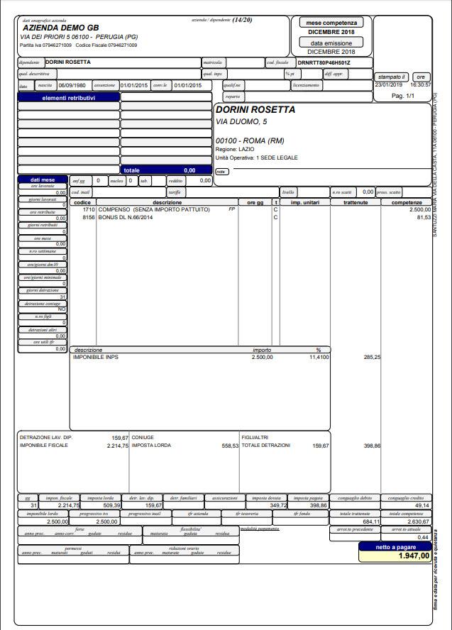 Paghe GB Web 2019: gestione Collaboratori, Tirocinanti e Amministratori - 3