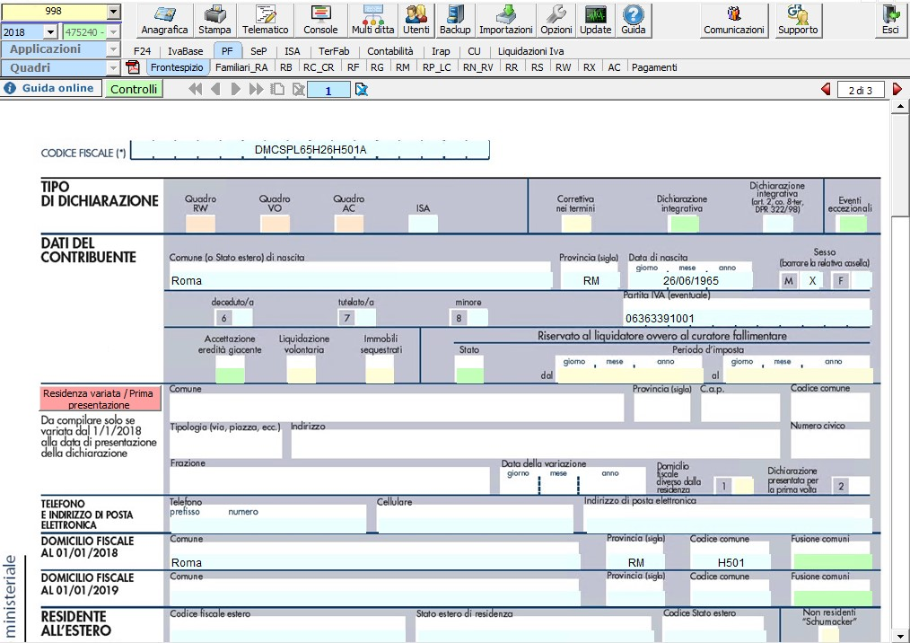 Software Redditi Persone Fisiche GB