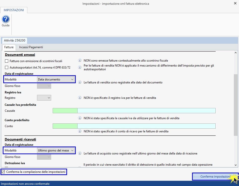 Caso pratico: Registrazione fatture elettroniche prodotte con altri software - 3