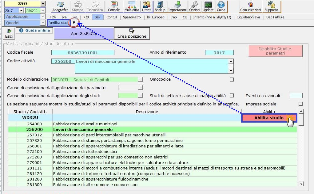 Studi e Parametri 2018: abilitazione e utilizzo applicazione - 3