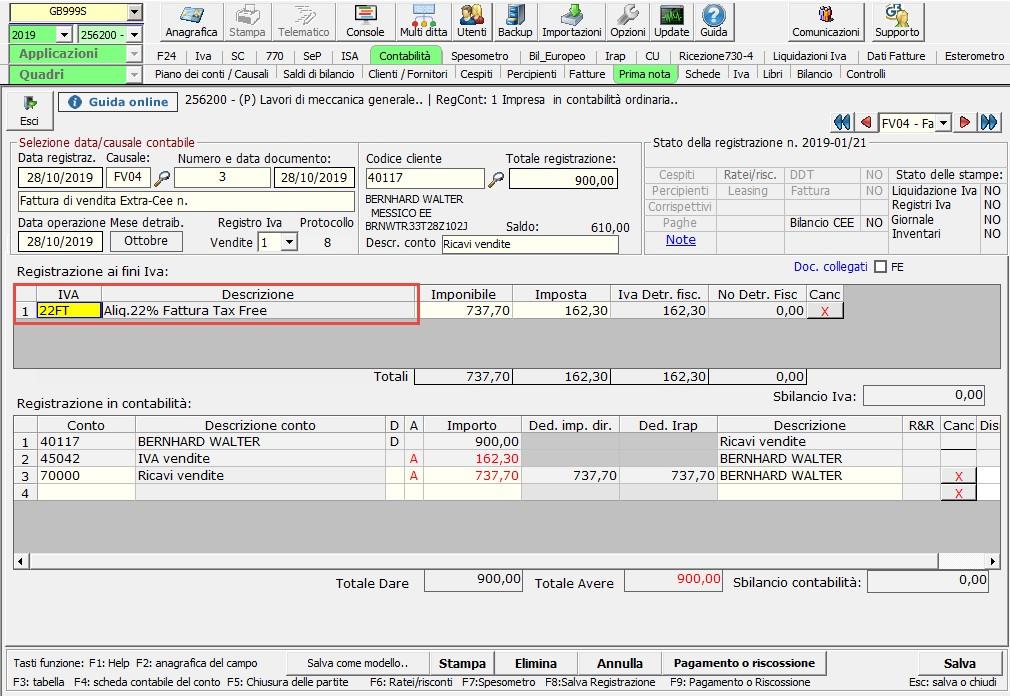 Tax free: cessioni a soggetti extra UE - Emissione della fattura con IVA