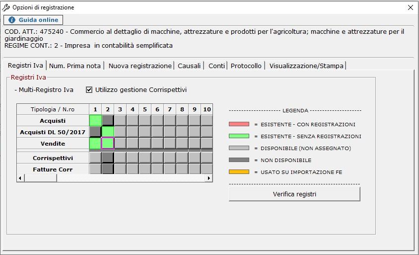 Contabilità: abilitazione di un nuovo registro IVA - 4