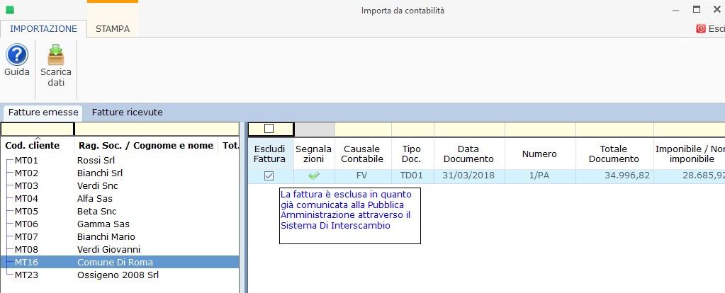 Dati Fatture 2018 (Nuovo Spesometro): 1° semestre - scadenza 1° ottobre - 4