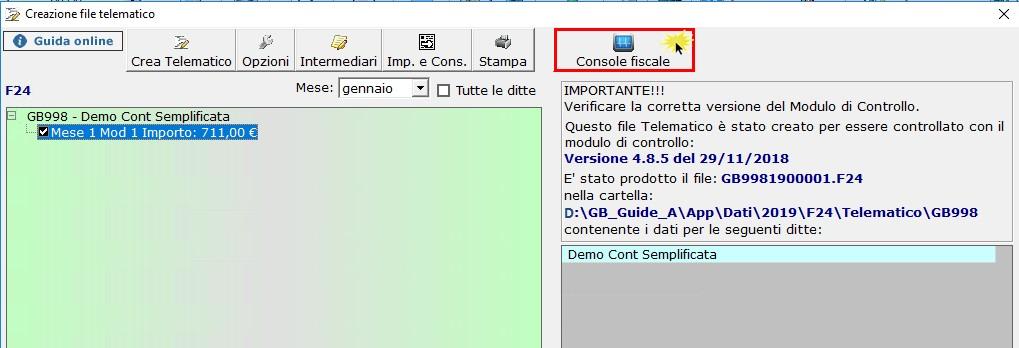 F24 2019: creazione, controllo e invio file telematico - 4
