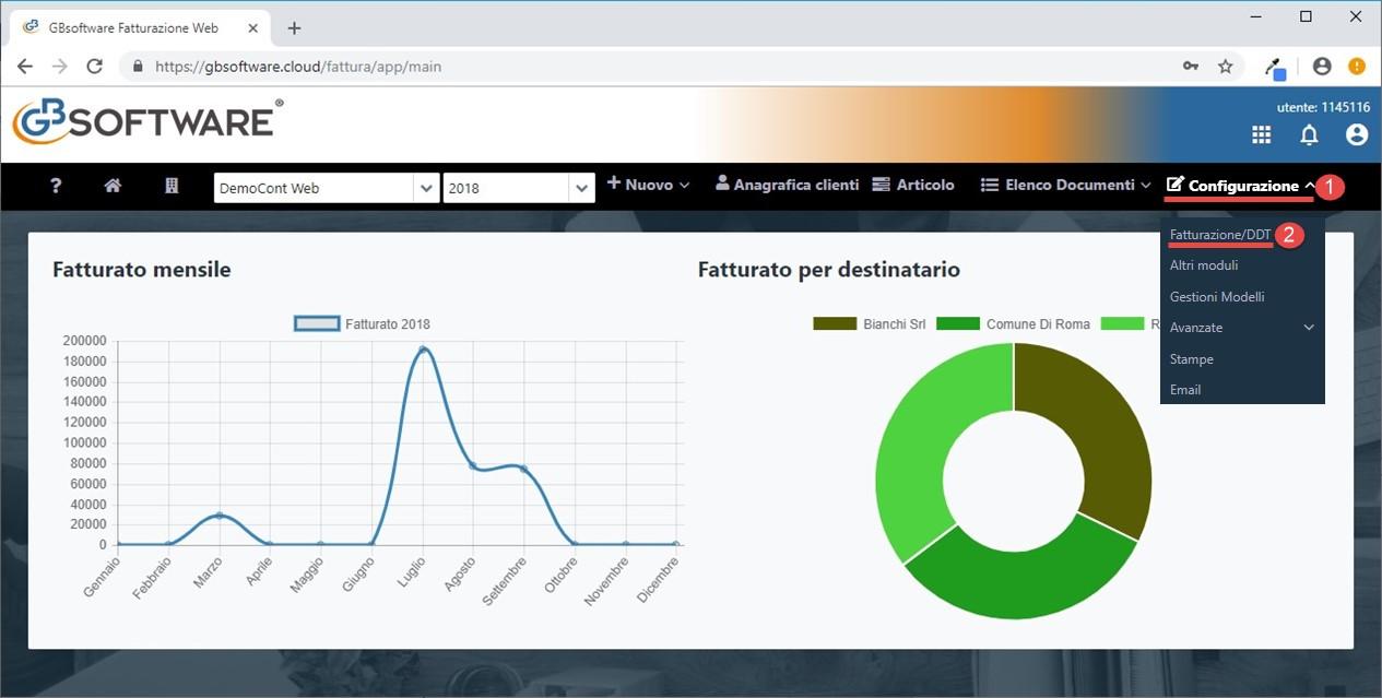 Fatturazione Web: rilascio applicazione - 4