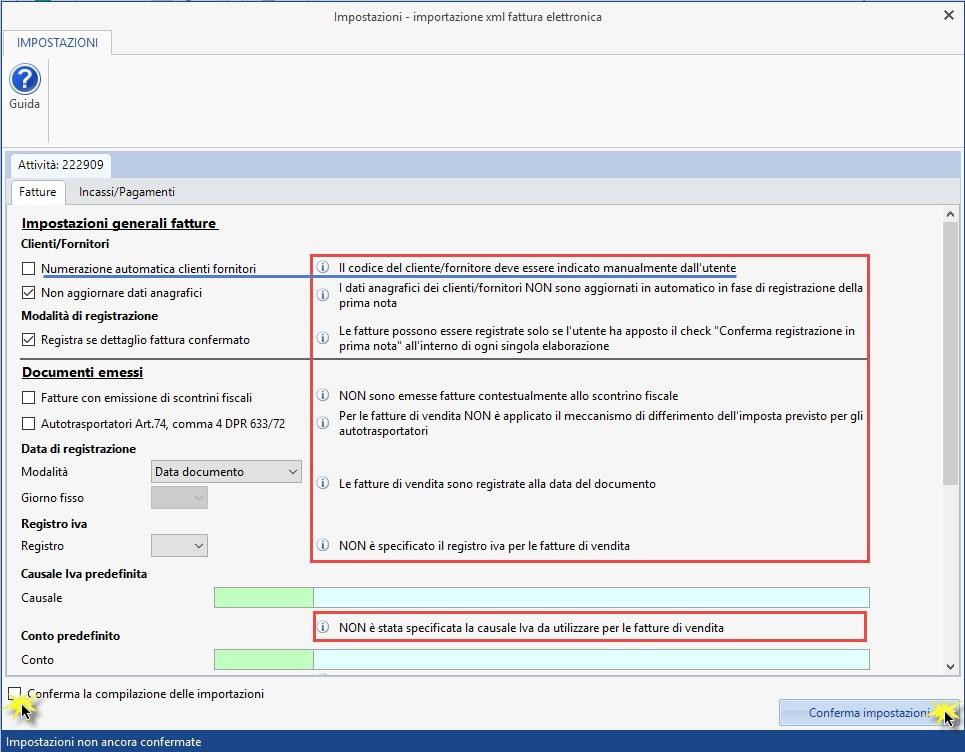 Importazione Fatture Elettroniche XML in Prima Nota: rilascio applicazione - 4
