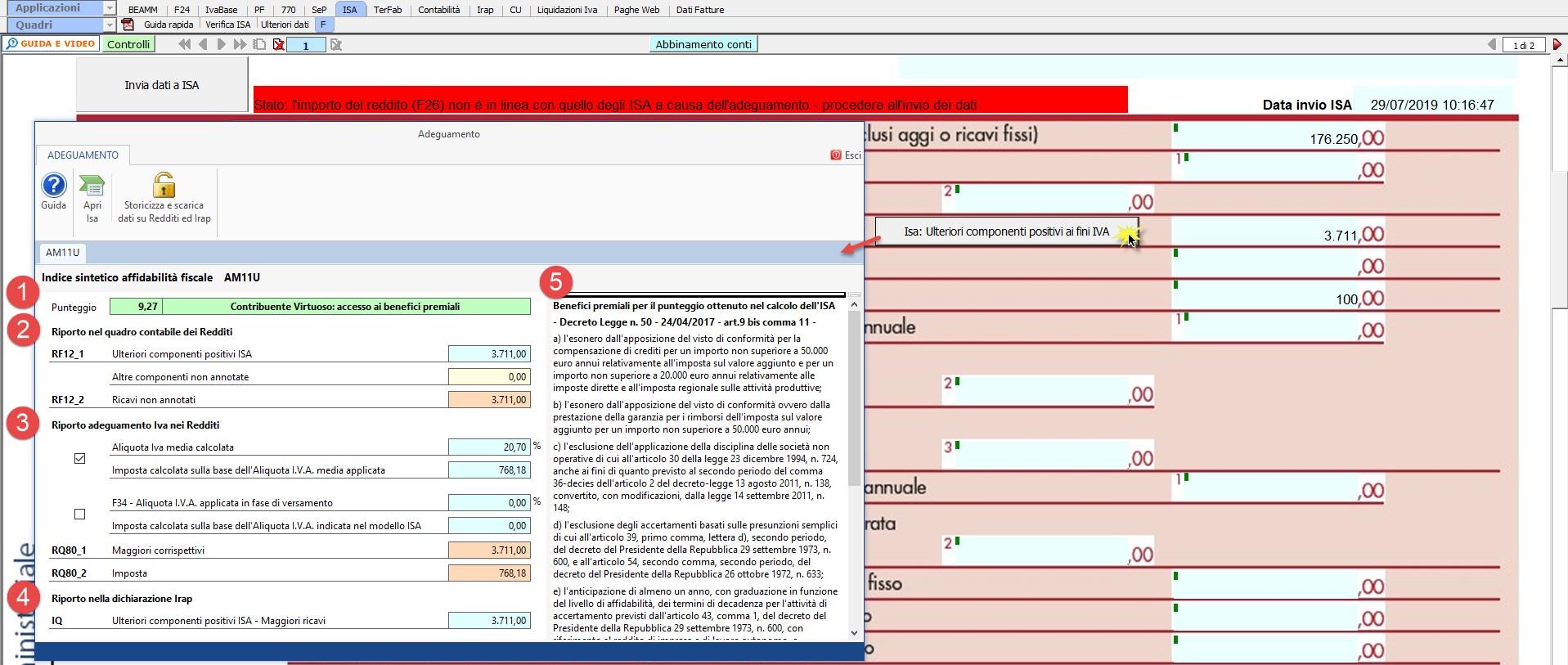 ISA 2019: gestione Ulteriori componenti positivi - 4