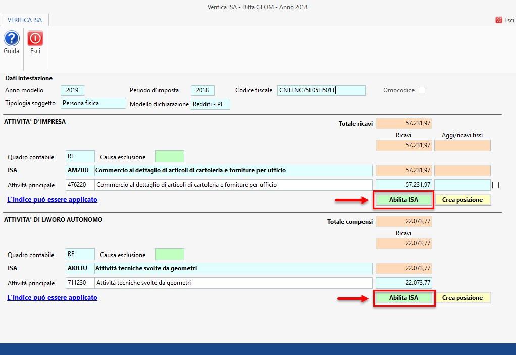 ISA - Indici sintetici di affidabilità fiscale 2019: rilascio applicazione - 4