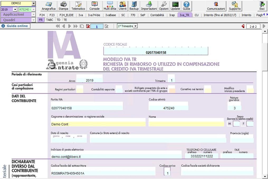 Modello IVA TR 2019: rilascio applicazione - 4