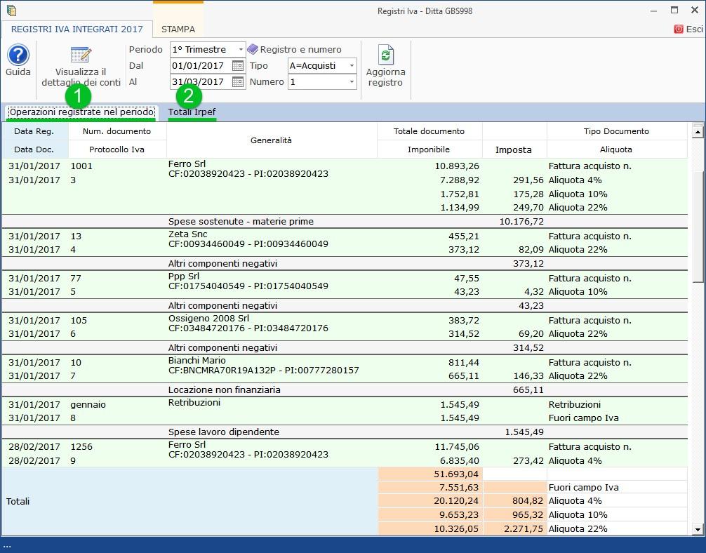 Registri Iva senza separata indicazione di incassi e pagamenti