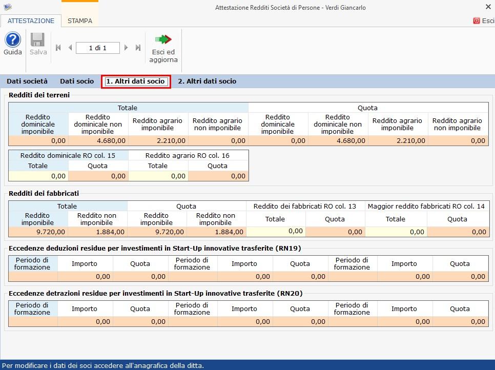 SP 2019 Quadro RO: gestione attestazioni redditi - 4