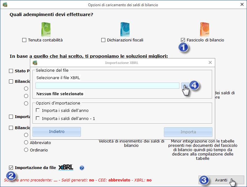 Caso pratico: Utente cloud ed importazione da bilancio XBRL ed Excel esterni - 4