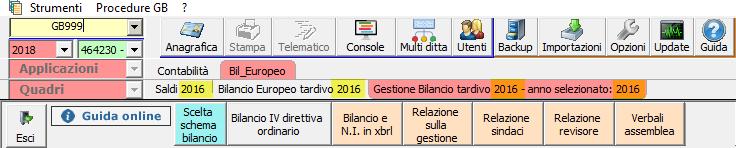 Bilancio Tardivo 2016 con tassonomia 2018: rilascio applicazione - 5