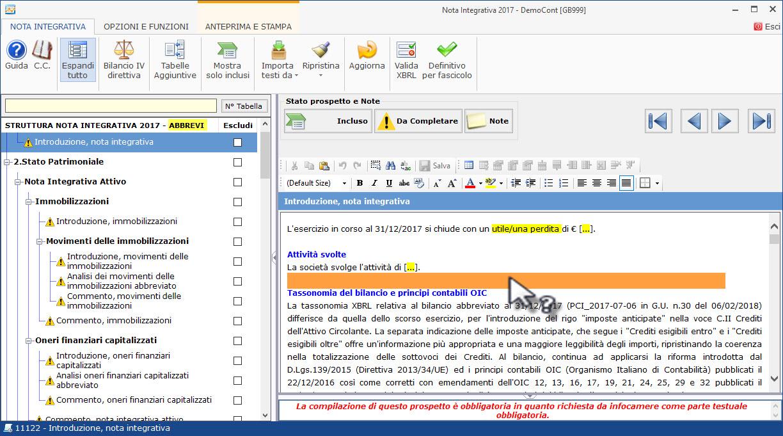Caso Pratico: Recuperare Nota Integrativa da copie interne - 5