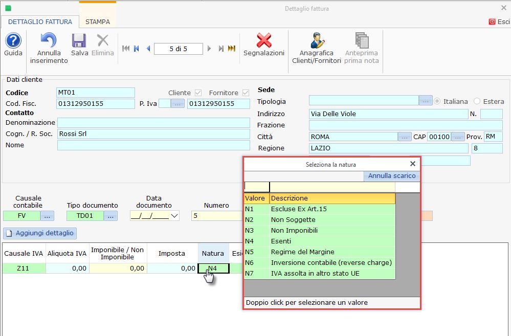 Raccordo automatico proposto da GBsoftware