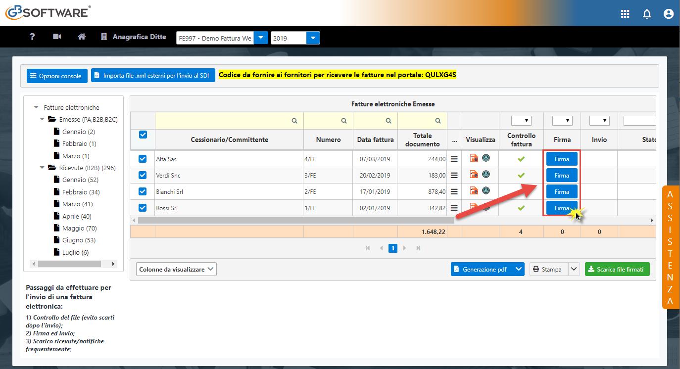 Console Web 2019: scarico automatico ricevute e operazioni multiple - 5
