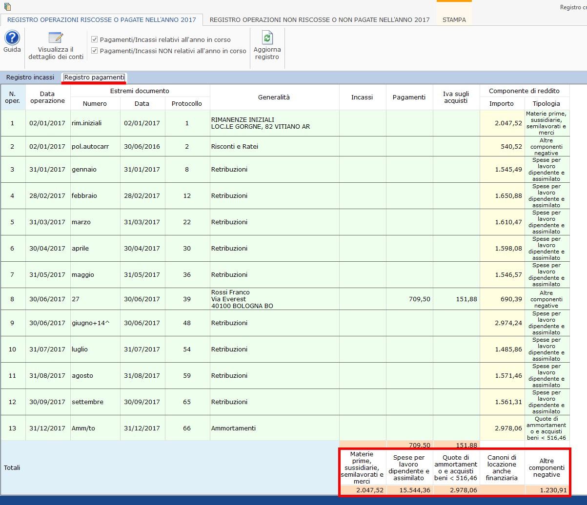 Contabilità Semplificata: Registro incassi/pagamenti - 5