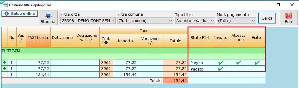 IMU e TASI 2018: gestione Filtri - 5