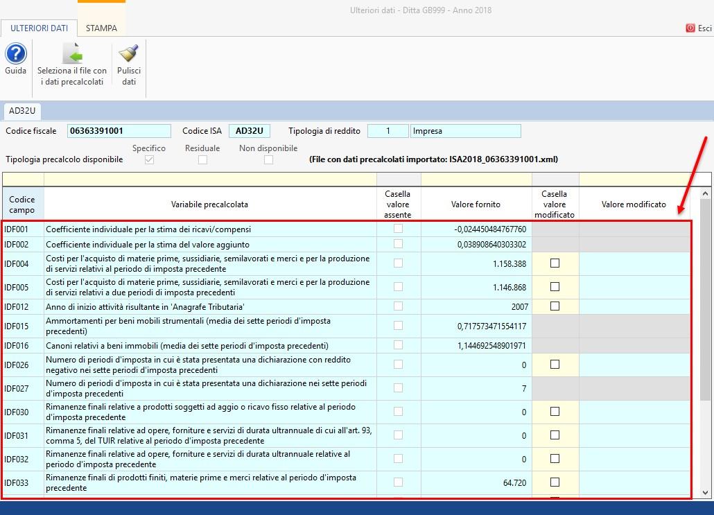 ISA 2019: gestione dei dati precalcolati - 5