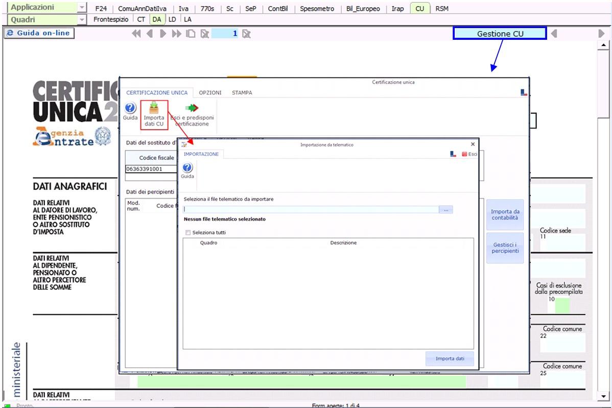Paghe GB Web 2017: Modello Certificazione Unica 2018 - 5