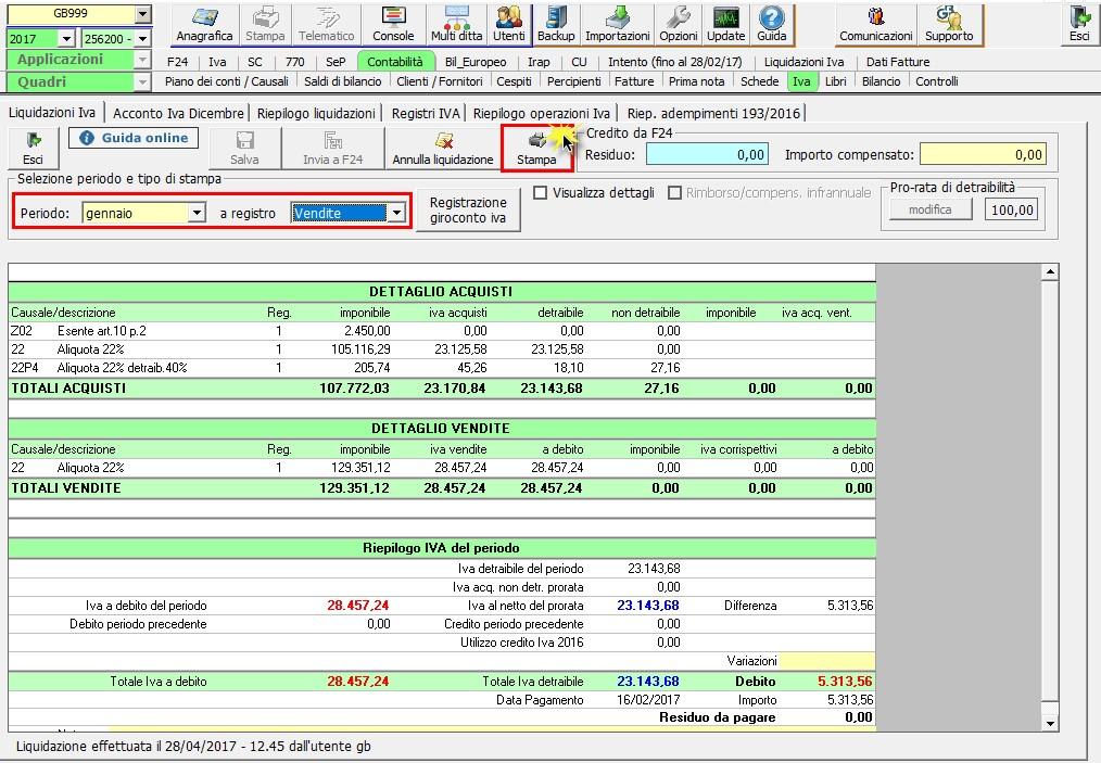 Registri IVA: stampa con Liquidazione - 5