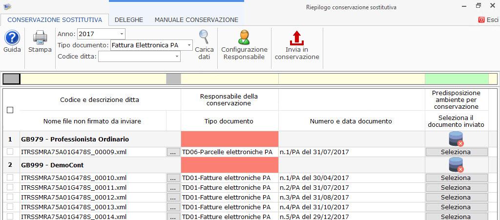 Conservazione file 2017 Dati Fatture, Liquidazioni Iva e Fatture elettroniche PA 2017: rilascio applicazione - 4