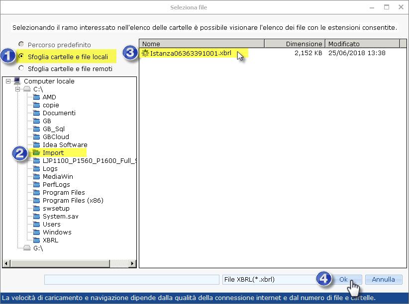 Caso pratico: Utente cloud ed importazione da bilancio XBRL ed Excel esterni - 5
