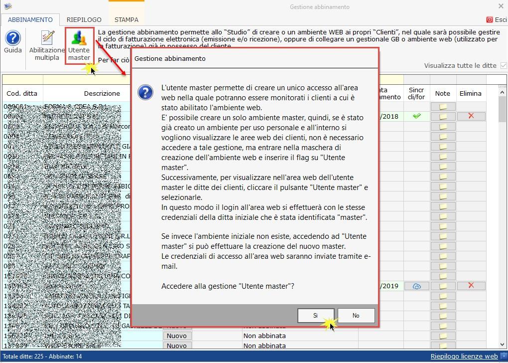 Utente master: unico accesso per lo studio agli ambienti web dei clienti -  Istruzioni creazione Utente master