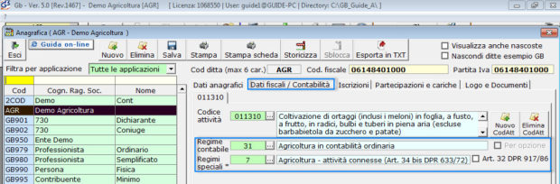 Software Regime Agricoltura - Software Contabilità GB - 2
