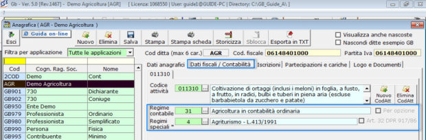 Software Regime Agricoltura - Software Contabilità GB - 3
