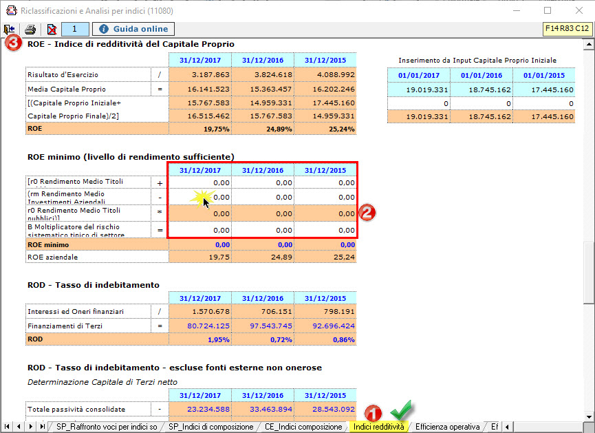 Caso Pratico: Indici di bilancio controllati dalle banche - 6