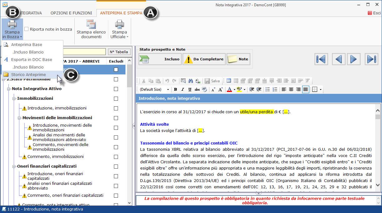 Caso Pratico: Recuperare Nota Integrativa da copie interne - 6