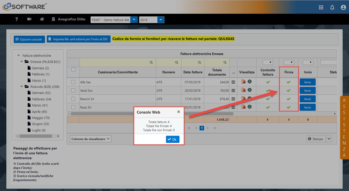 Console Web 2019: scarico automatico ricevute e operazioni multiple - 6