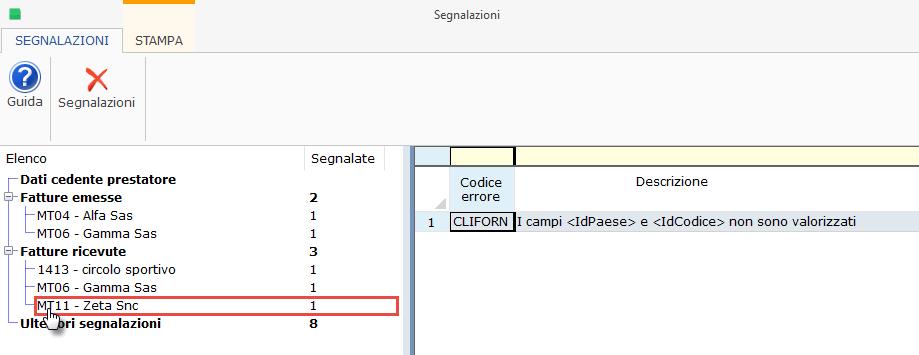Assenza codice fiscale e partita Iva Fornitore Italiano