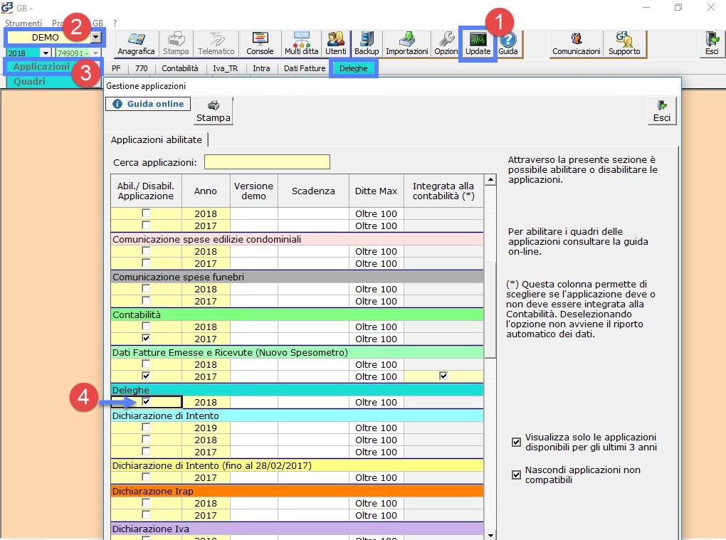 Deleghe Fatturazione Elettronica: rilascio applicazione - 6
