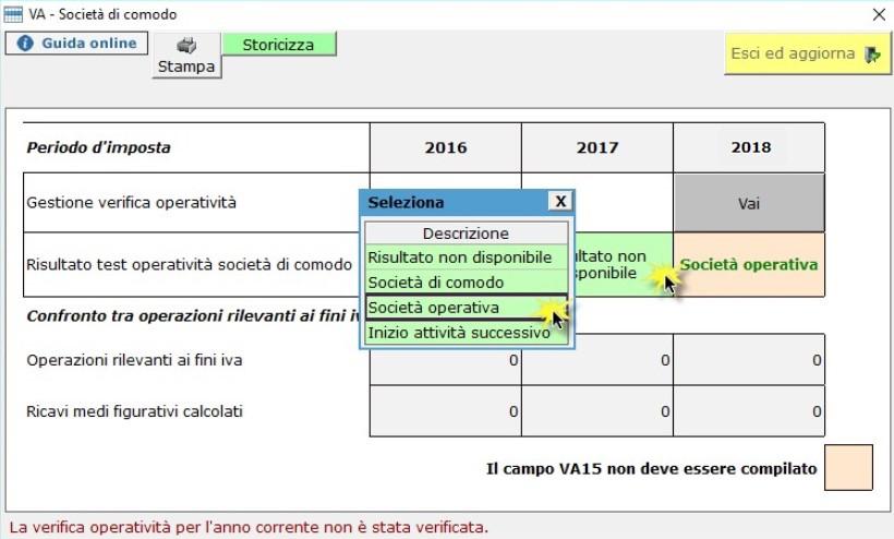 Dichiarazione IVA 2019: Società di comodo e Verifica Operatività - 6